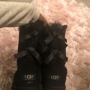 Bailey Bow Ugg boots - black